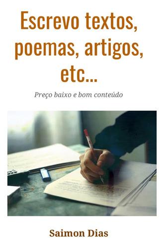 Imagem 1 de 1 de Histórias, Poemas, Artigos, Notícias, Blogs, Textos Em Geral