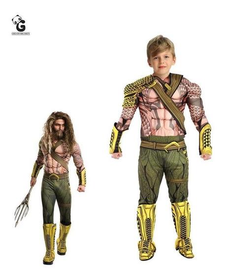 Disfraz 3d Aquaman Para Niños Fiesta