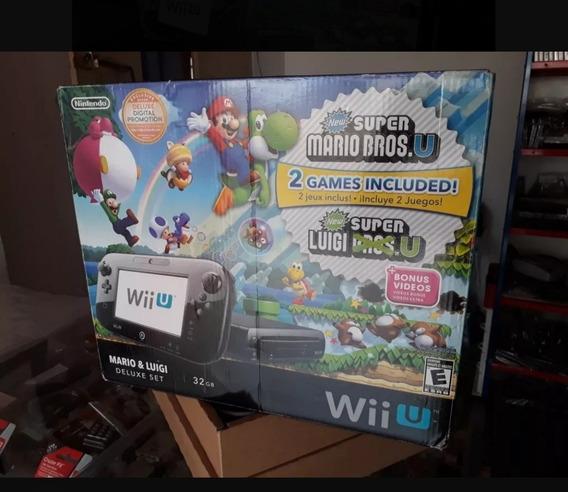 Nintendo Wii U 32gb Preto Com. Jogos Físicos
