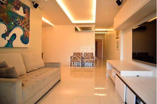 Apartamento Com 4 Dormitórios À Venda, 180 M² Por R$ 1.870.000,00 - Piratininga - Niterói/rj - Ap1951