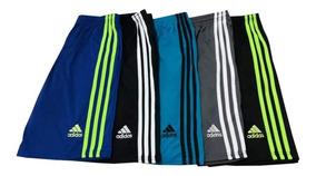Kit C/3 Shorts Academia Futebol Poliéster Com Bolsos