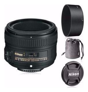 Lente Nikon Af-s 50mm 50 F/1.8g 1.8 G Fact A O B + Parasol