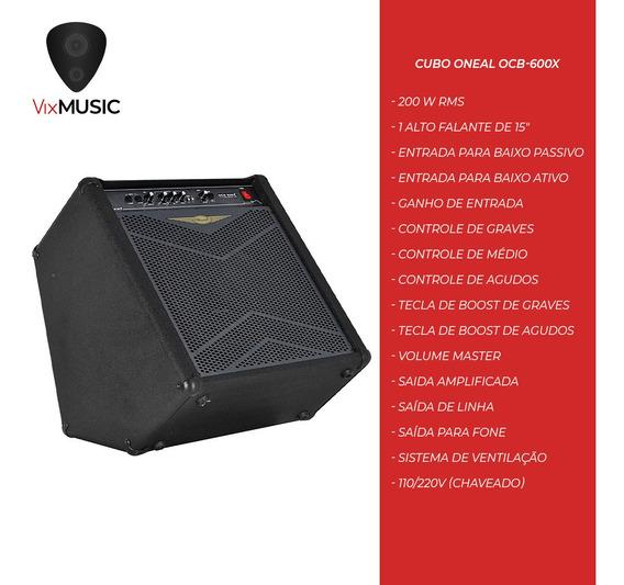 Cubo Amplificador Contra Baixo Oneal Ocb-600x 200w Ocb600x