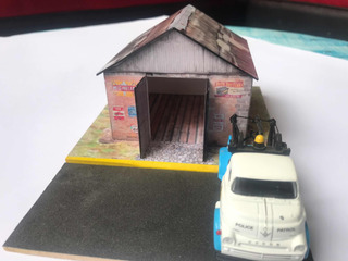 Diorama 1:64 Hot Wheels Matchbox