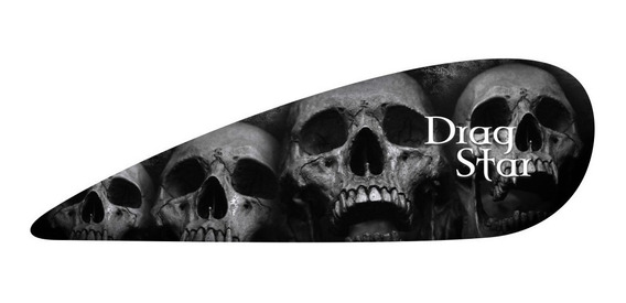2 Adesivos Gota Skull Caveira P/ Tanque Yamaha Drag Star