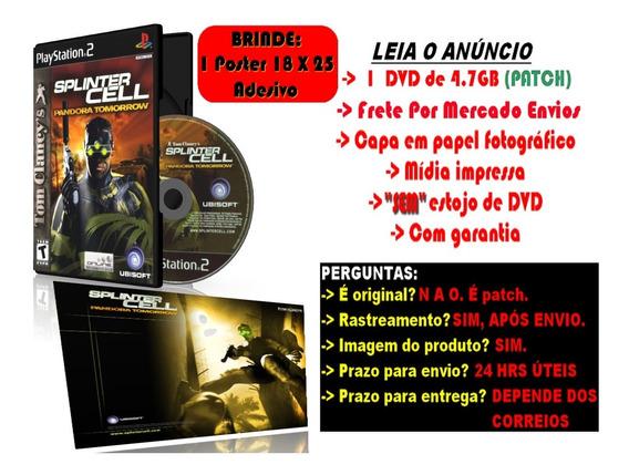 Splinter Cell: Pandora Tomorrow Para Ps2 + Brinde Adesivo