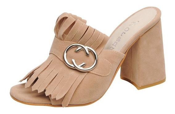 Zapato Con Flecos Y Hebilla Taco Separado Dama Gasumma