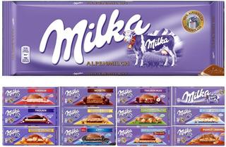 Chocolate Barra Milka 250g/300g Importado Vários Sabores
