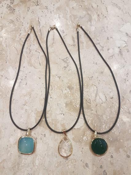 Kit Com 3 Pingentes Pedras Brasileiras