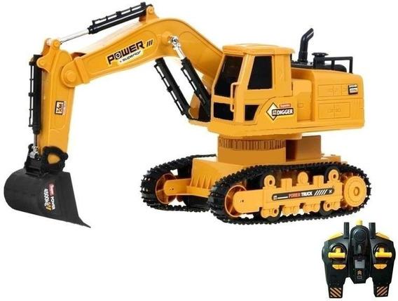 Trator Escavadeira R/c 8 Ch Mod 6811l + Pilhas Novo Modelo