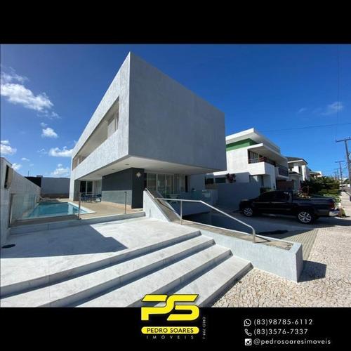Casa Com 5 Dormitórios À Venda, 430 M² Por R$ 2.200.000 - Portal Do Sol - João Pessoa/pb - Ca0874