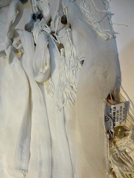 Pantalón Blanco Para Dama Playero Tipo Pareo. Talla Única