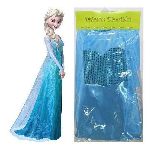 Frozen Elsa Disfraz Premium Vestido 2-4-6-8-10 Años