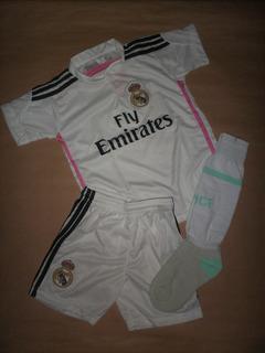Conjunto Real Madrid 2015 Niños -camiseta + Short + Medias-