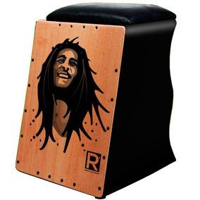 Cajon Rapha Personalizado Bob Marley Com Captação Dupla
