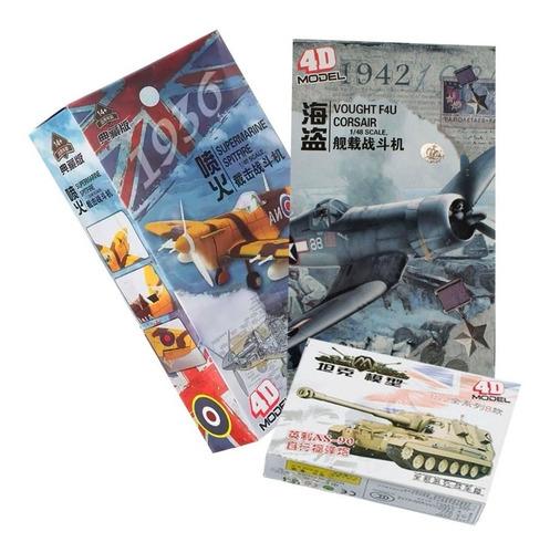 Avión F4u Corsair + Avión Spitfire Incluye Tanque De Regalo