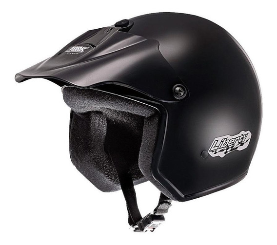 Capacete para moto aberto Pro Tork Liberty preto tamanho 56