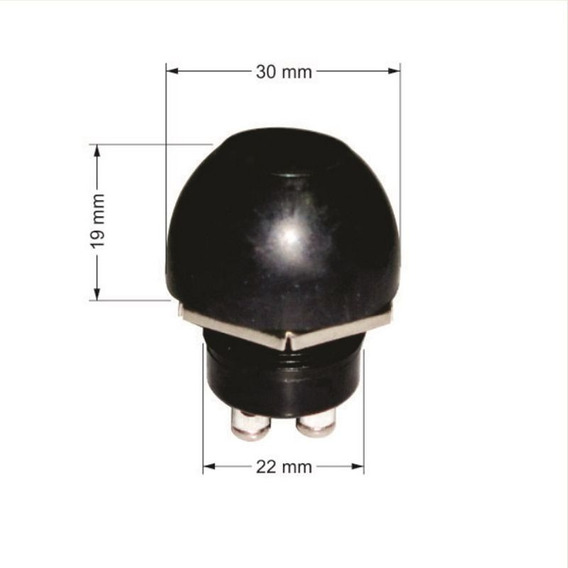 Botão Interruptor De Buzina Náutica Hermético Com Capa