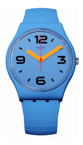 Reloj Swatch Unisex Malla Elastizada Gn251 Pepeblu