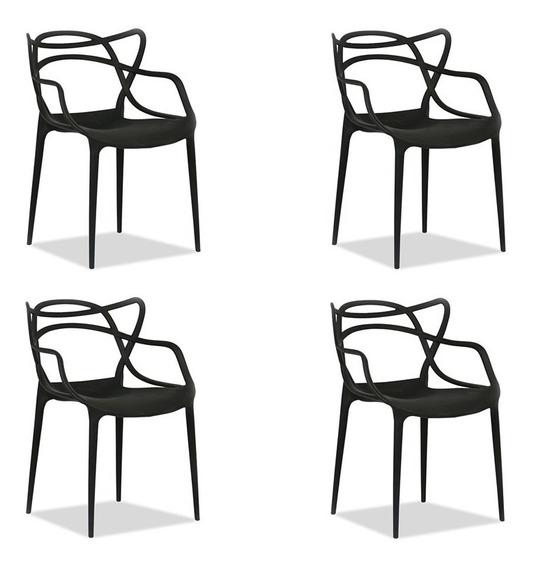 Conjunto Com 4 Cadeiras De Jantar Allegra Casa Aberta Brasil