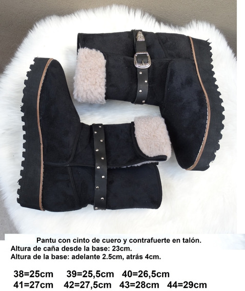 Pantubotas Con Contrafuerte En Talón. Horma Ancha - 38 Al 44