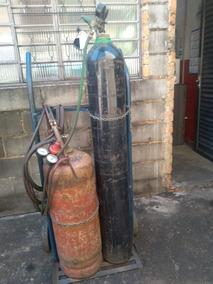 2 Cilindro De Oxigênio De Solda C /carrinho