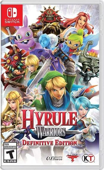 Hyrule Warriors Definitive Edition Switch Mídia Física Novo