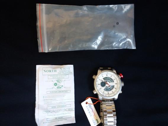 Relógio North - Display Branco Com Led Original Americano