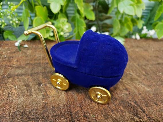 Caixinha De Carrinho De Bebê, Azul (anel)