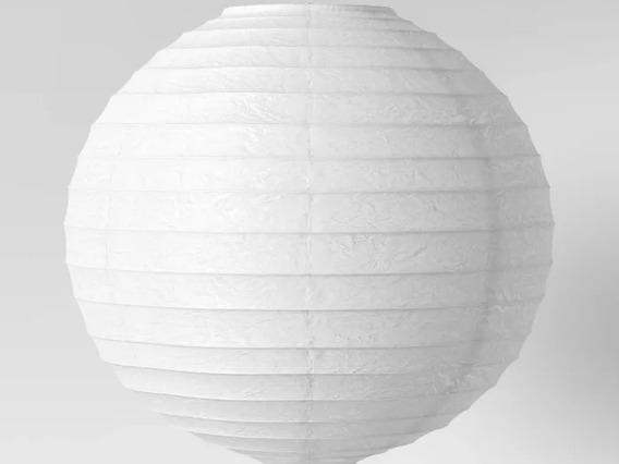 Lampara Colgante De Papel De Arroz Color Blanco Nueva