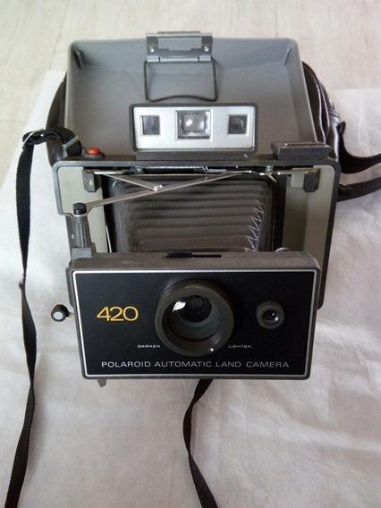 Linda Maquina Fotográfica Polaroid 400 Sanfonada Sem Uso