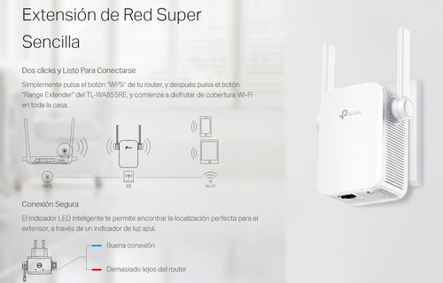Access Point Tp-link Tl-wa855re 300n Repetidor Wifi Extender