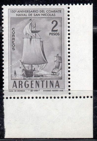 Argentina 1961. 2p Combate San Nicolás Con Variedad