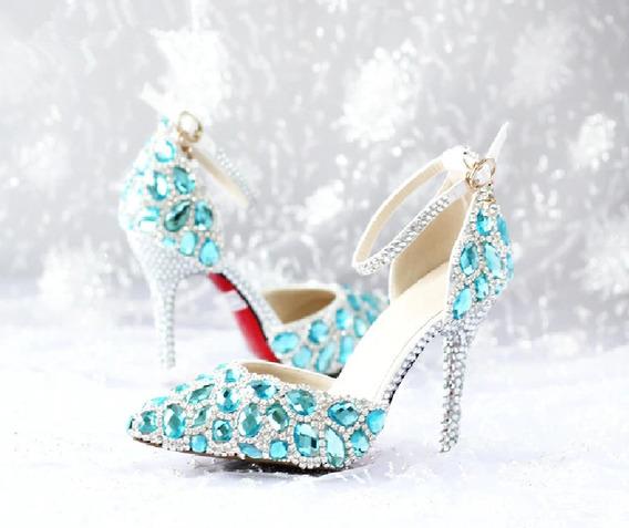Sapato De Luxo Festa Cinderela Noivas E Debutantes