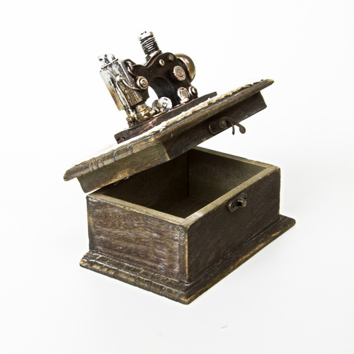 Porta Joia Máquina De Costura Para Enfeite E Utilidades Anel