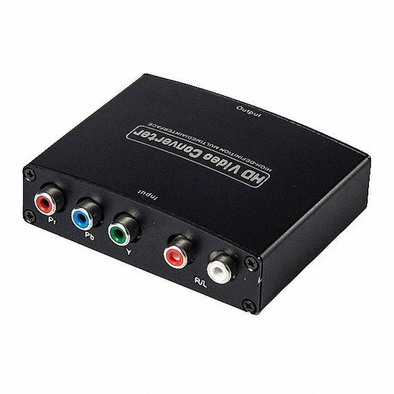 Conversor Vídeo Componente Ypbpr (rgb) Áudio L/r Para Hdmi