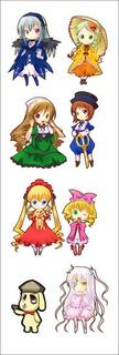 Plancha De Stickers De Anime De Rozen Maiden