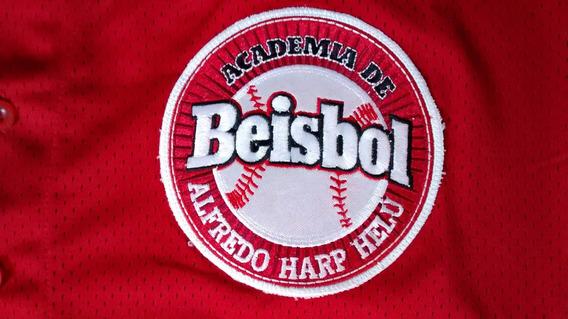 Jersey Beisbol L Academia De Beisbol Alfredo Harp Helu Rojo