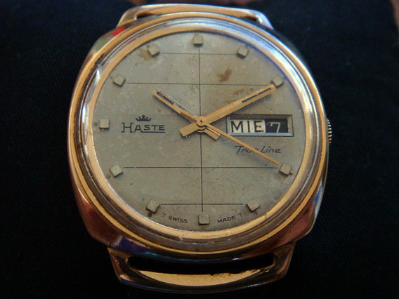 Antiguo Reloj Haste True Line Automatic Swiss Made