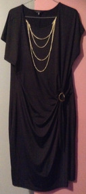 Hermoso Vestido Negro Para Cóctel Talla 50
