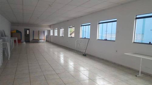 Salão Para Alugar, 150 M² Por R$ 2.800/mês - Jardim Santo Alberto - Santo André/sp - Sl0940
