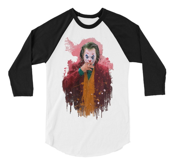 Playera 3/4 Joker Joaquin Phoenix Batman Dc