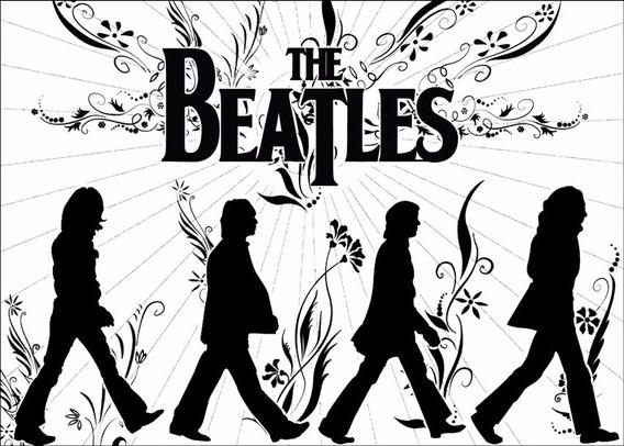 Poster Beatles 60cmx84cm Cartaz Banda Rock Enfeite Para Casa