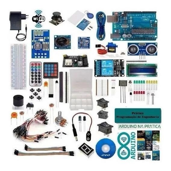 Kit Arduino Uno R3 Iniciante Iot Completo + 215pc + Wifi Esd