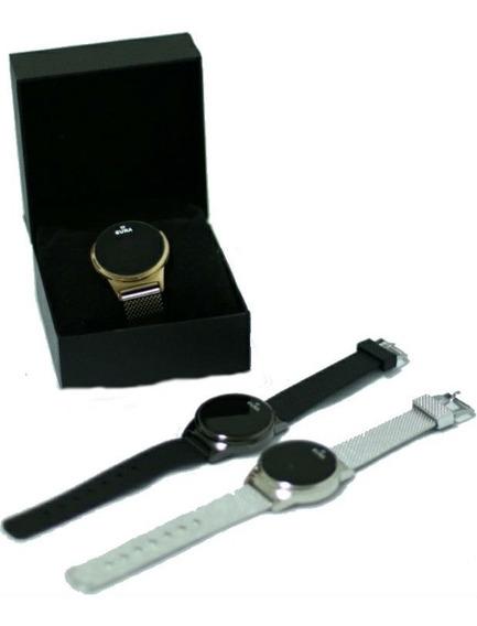 Relógio Novo Para Mulher Jóia Luxuoso Pulseira Aço Prateado