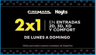 Codigo Cine 2 X 1 ( Cinemark / Hoyts )