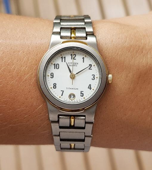 Relógio Citizen Titanium Quartz Feminino Clássico Anos 90