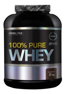 100% Pure Whey Protein 2kg - Probiótica - C/ Nf