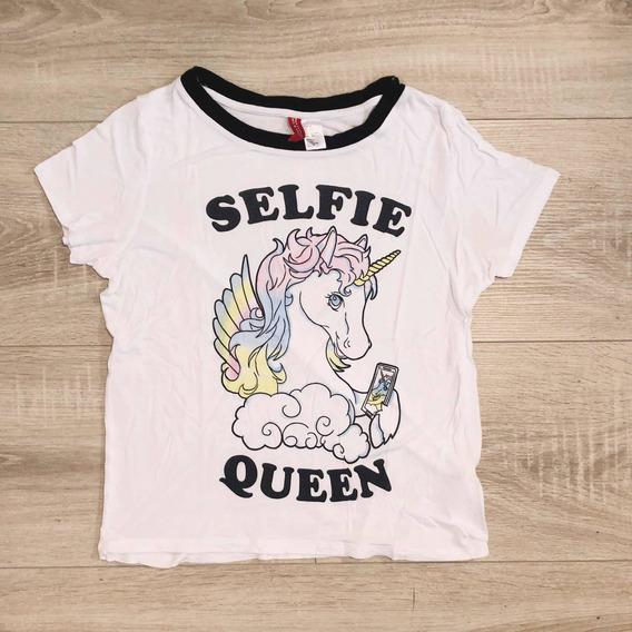 Remera Selfie Queen Unicornio H&m Divided Importada