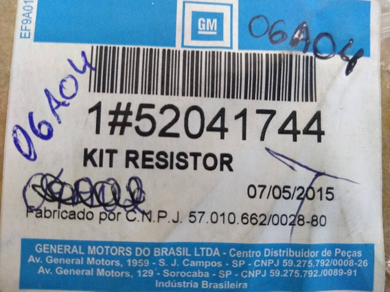 Resistor Do Ventilador Código Gm 52041744